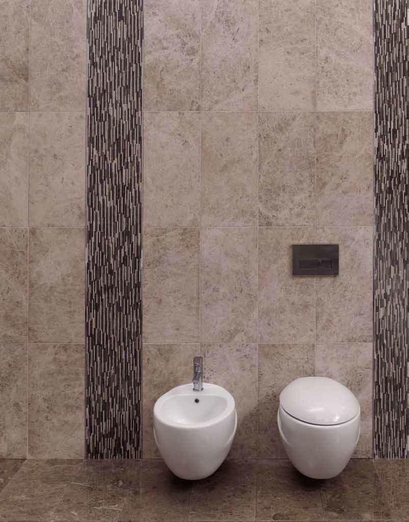 Marbre mural salle de bain