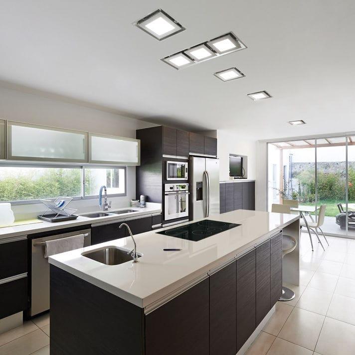 Hotte de cuisine de plafond / avec éclairage intégré - PARADIGMA 3P ...