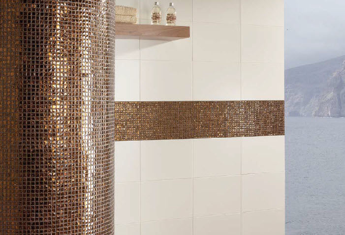 mosaïque d'intérieur / de salle de bain / murale / en céramique ... - Photo Salle De Bain Mosaique