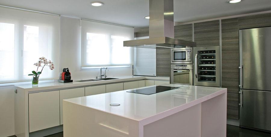 Plan de travail en composite quartz / de cuisine - ABSOLUTE BLANC ...