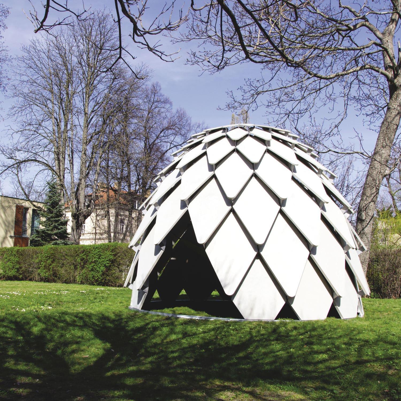Abri de jardin en contreplaqué en acier design original pour