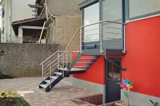 escalier exterieur tournant