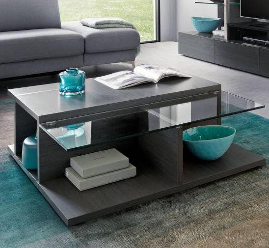 Table basse contemporaine / en chêne / en verre / en mélaminé ...