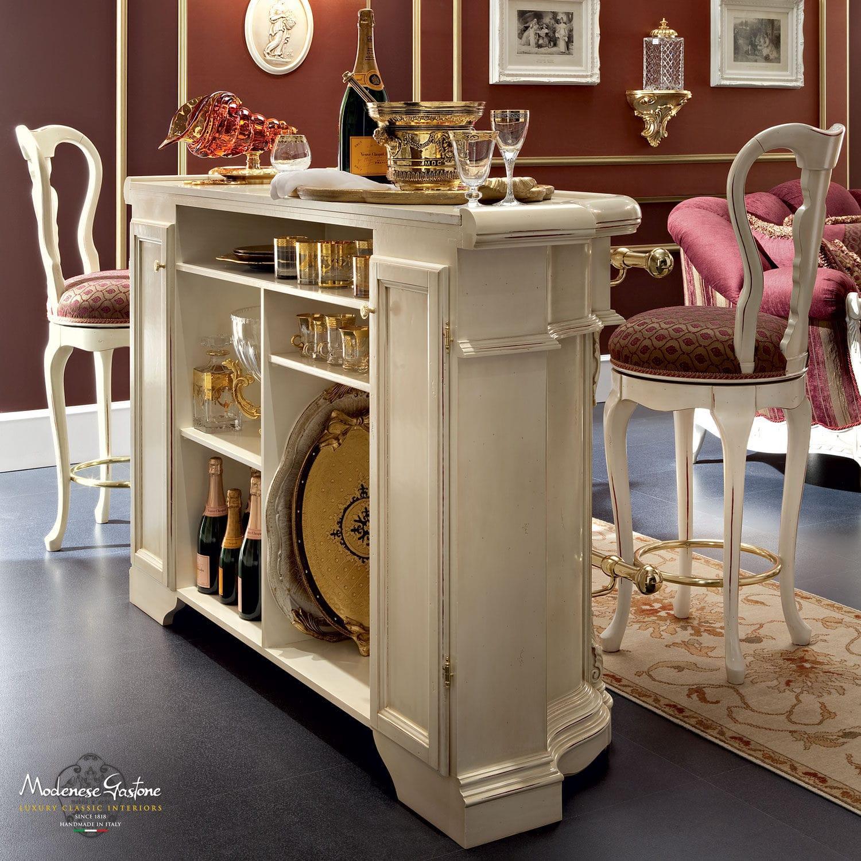 Meuble bar de style / en bois / blanc   bella vita : counter bar ...