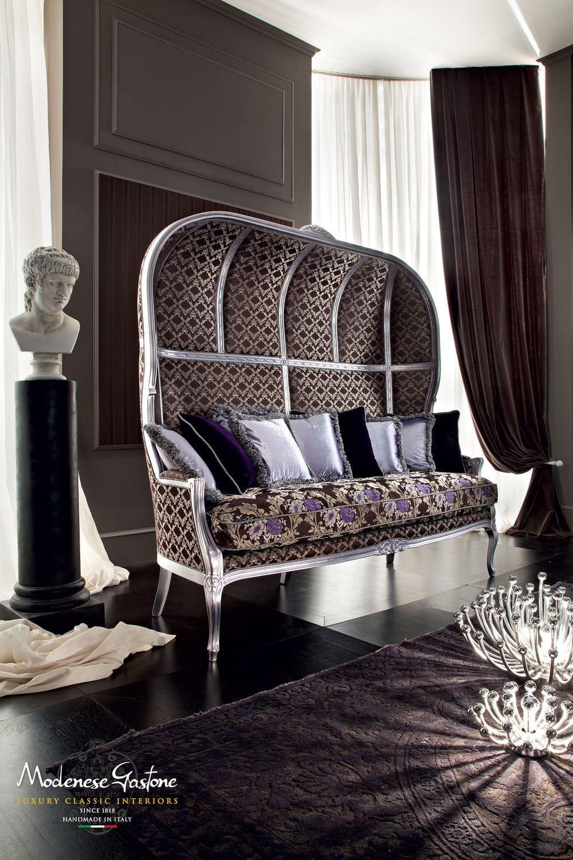 Canap De Style En Tissu 3 Places Avec Dossier Haut Casanova
