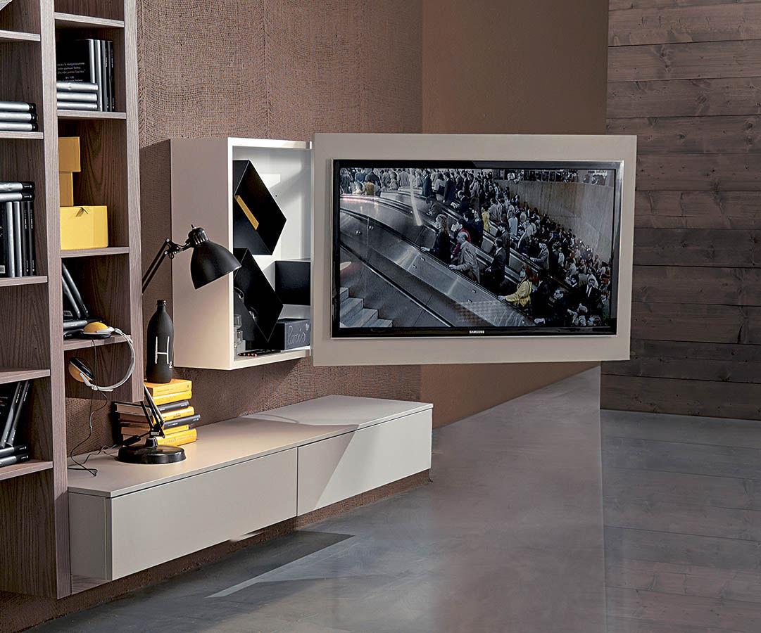 Célèbre Support TV mural contemporain / pivotant / en métal / en bois  CQ99