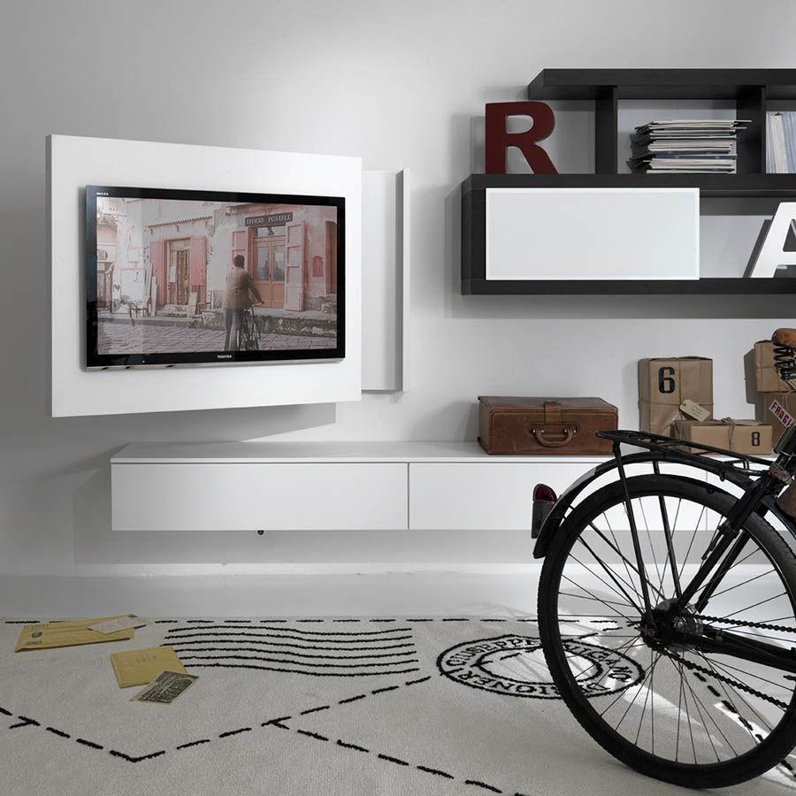 Célèbre Support TV mural contemporain / pivotant / en bois laqué - FREE  CQ99