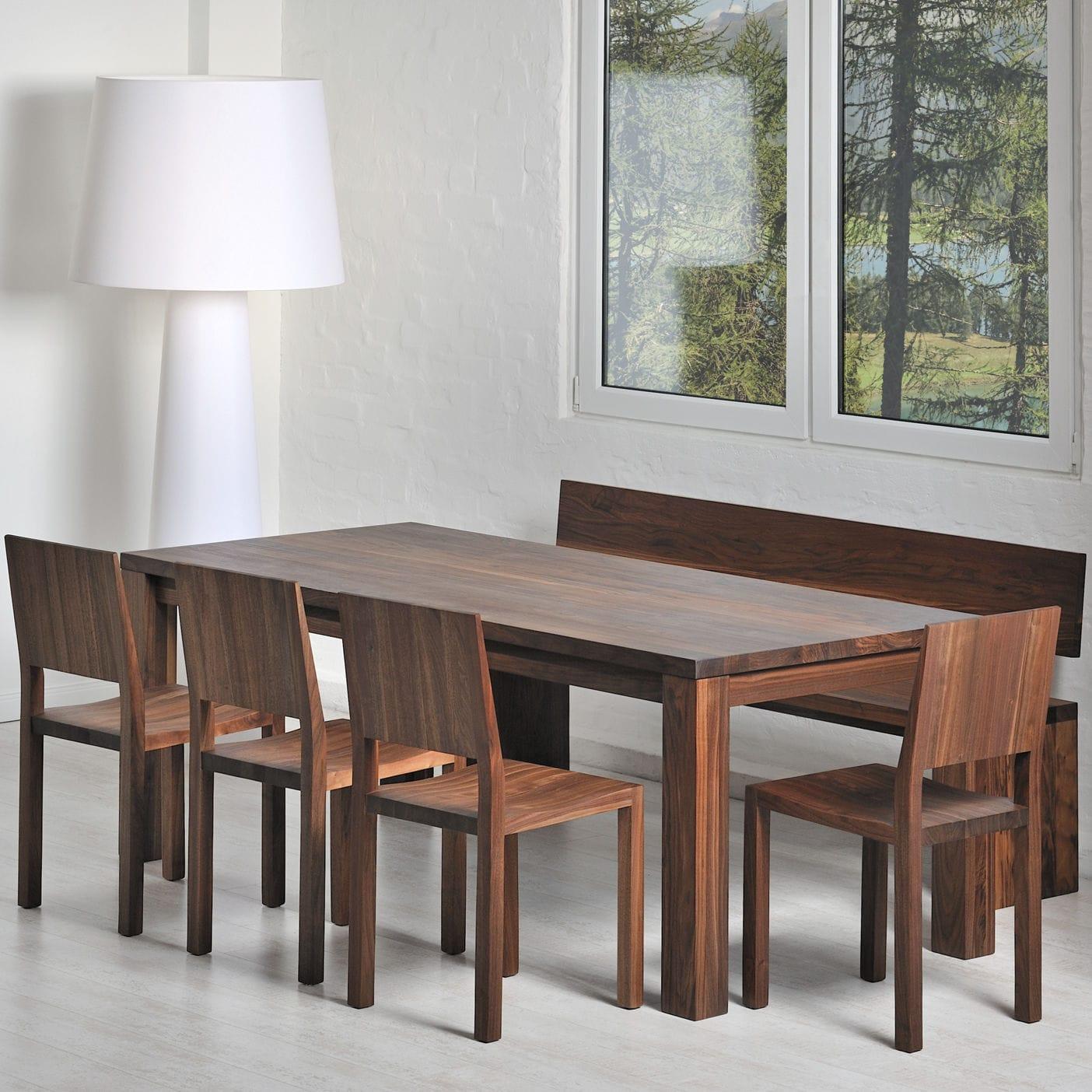 Table à Manger Design Scandinave En Chêne En Noyer En Bois