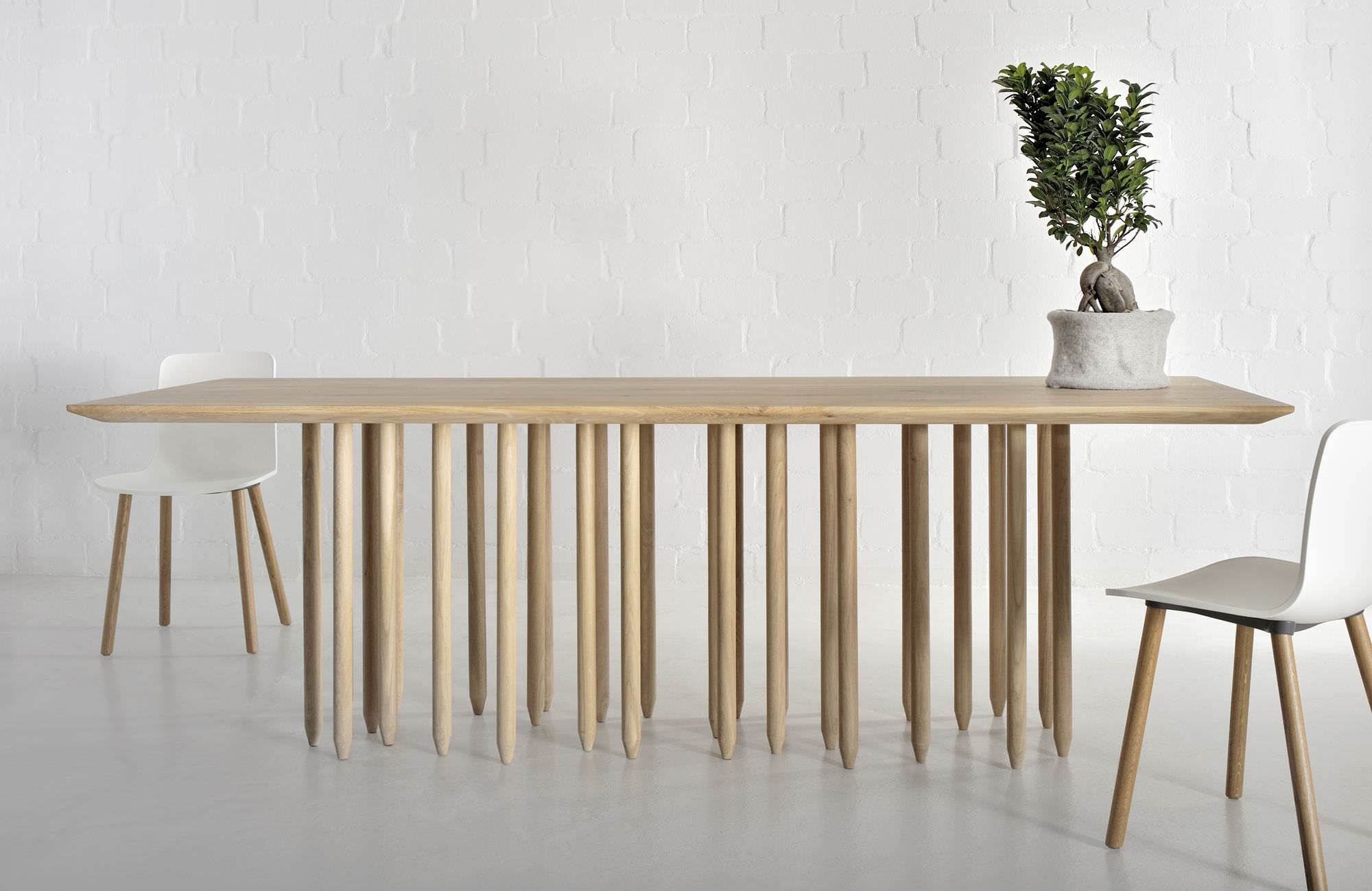 Beautiful Table Design Bois Massif 1 Long Wood Table Google  # Muebles Bois Massif