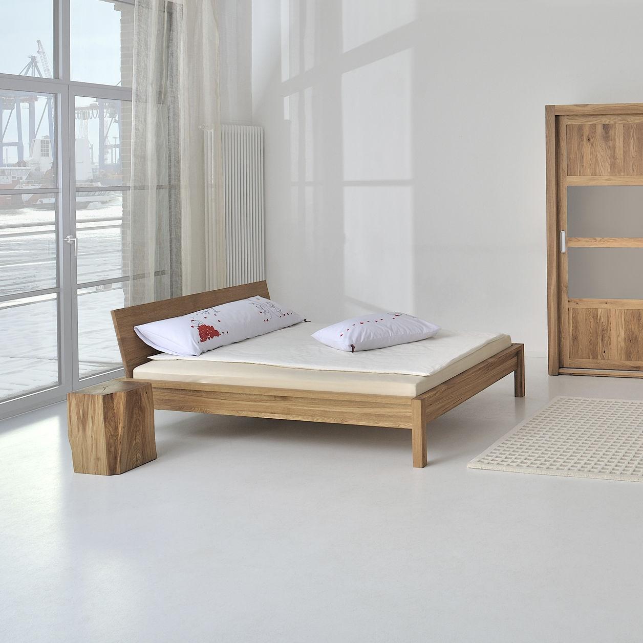 Lit double / design scandinave / avec tête de lit / sur mesure ...