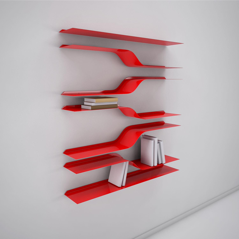étagère murale design original en métal stairs vidame creation