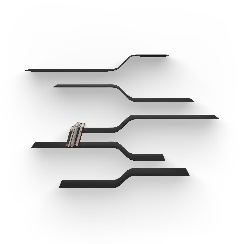 étagère Murale Modulable Design Minimaliste En Aluminium