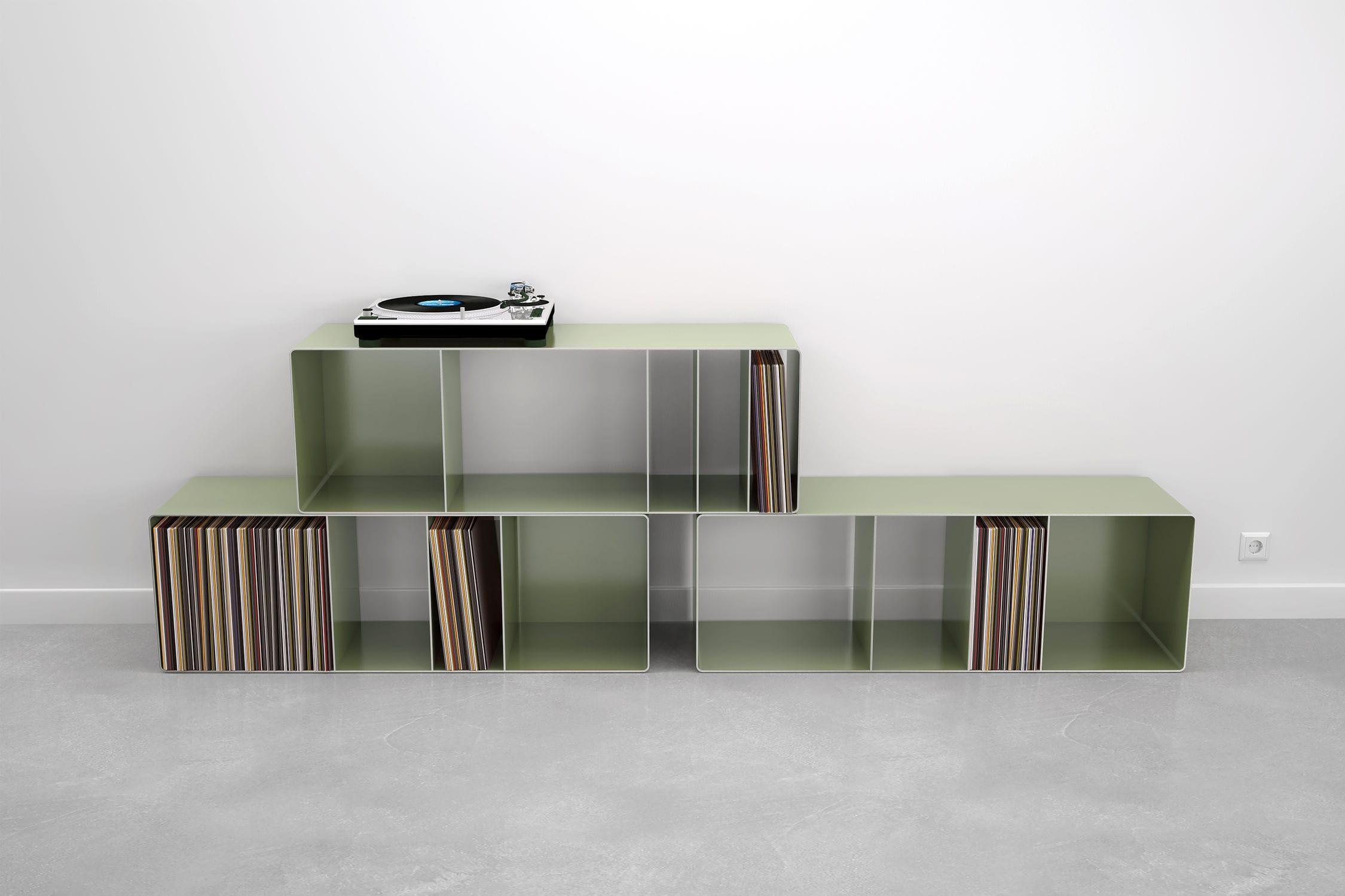 Meuble Disque Vinyle Intérieur Étagère Modulable / Design Industriel / En  Acier / Pour Disques