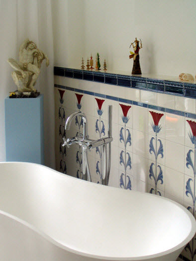 Carrelage de salle de bain / mural / en faïence / 15x15 cm - F 53A ...