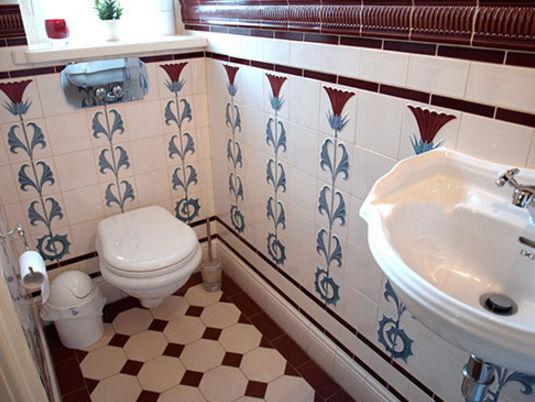 Carrelage de salle de bain / mural / en faïence / Art nouveau - F ...
