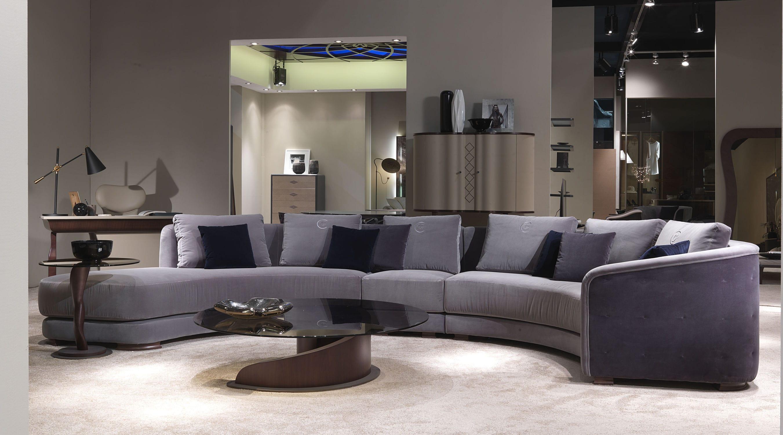canap en arc de cercle contemporain en tissu 6. Black Bedroom Furniture Sets. Home Design Ideas