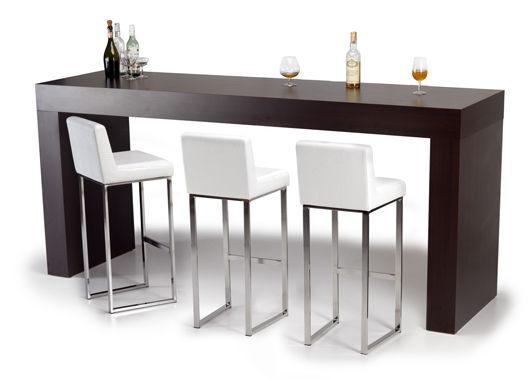 table mange-debout contemporaine / en plaqué bois / en bouleau