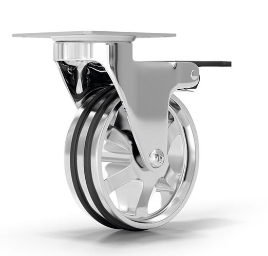 meuble de télévision contemporain / avec roulettes / en bois - 90 ... - Roulette Design Pour Meuble
