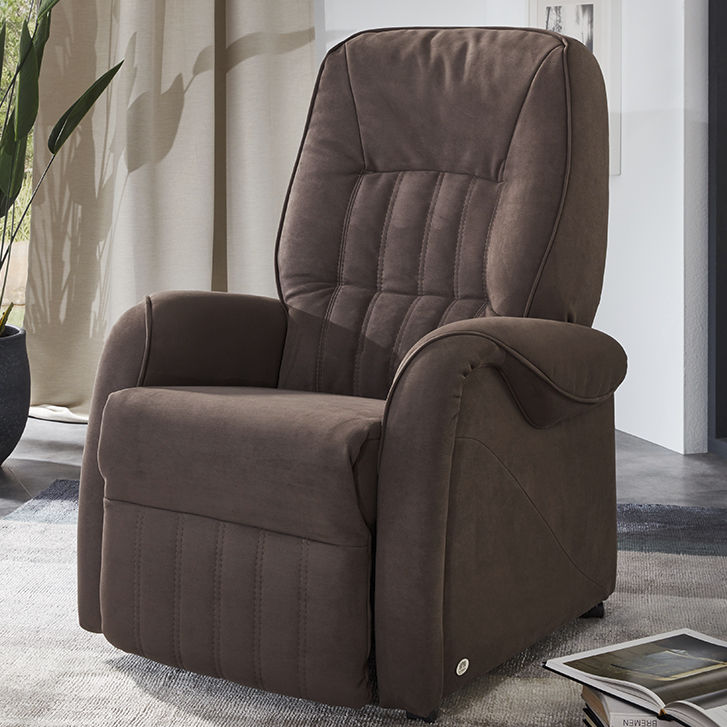 Avec Pieds Repose Fauteuil Classique En Tissu Cuir HED29WI