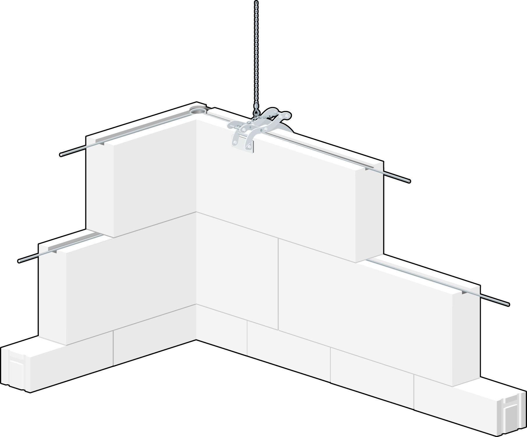 Charmant Bloc De Béton Cellulaire / Pour Mur Porteur - GIGA-SYS
