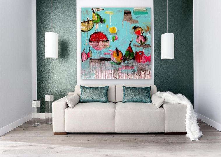 Tableau décoratif acrylique abstrait pour bureau pour hôtel