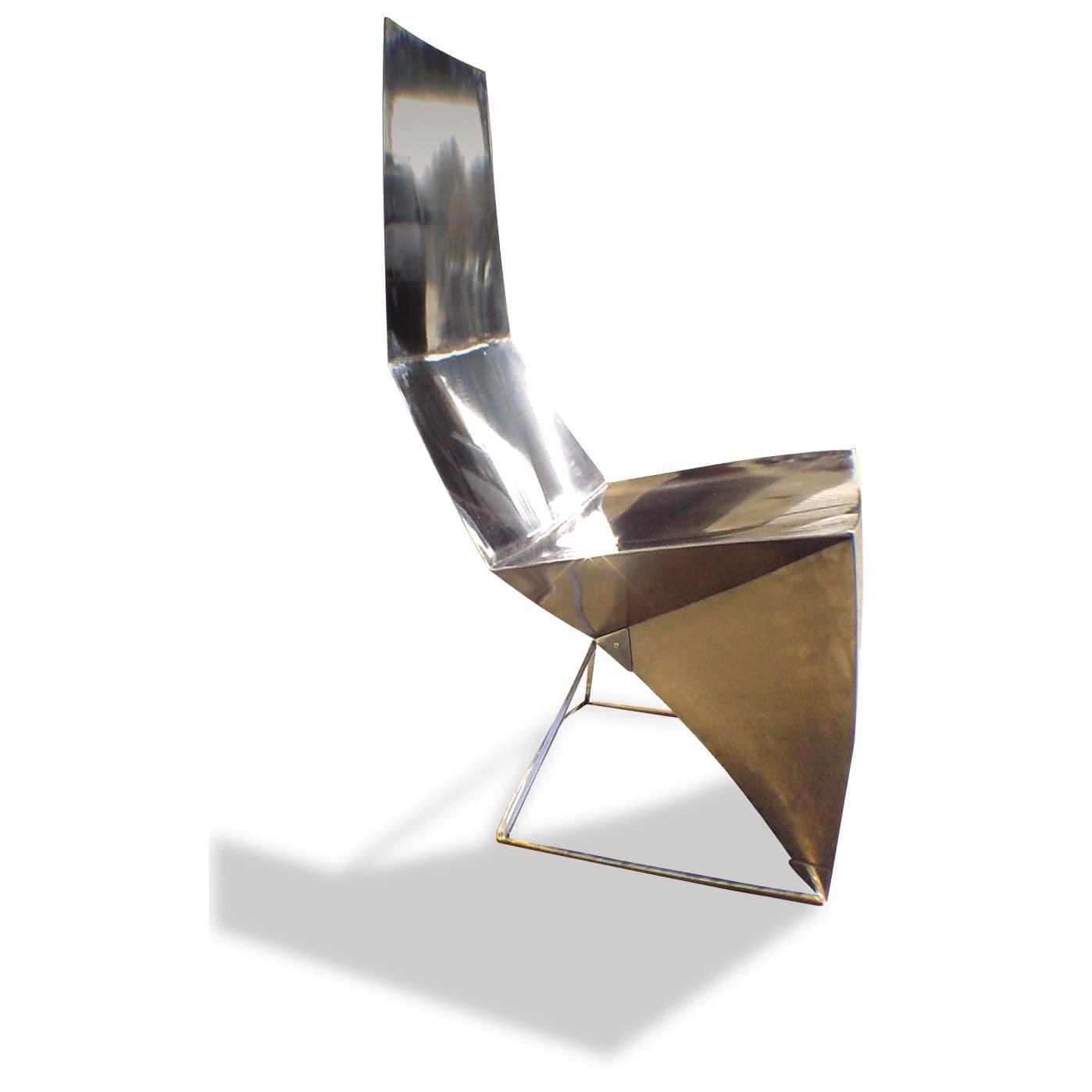 Chaise Design Original Avec Dossier Haut Coussin Amovible Cantilever
