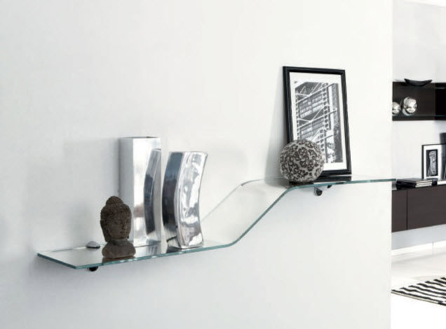 Etagere Murale En Verre Fly Table De Lit