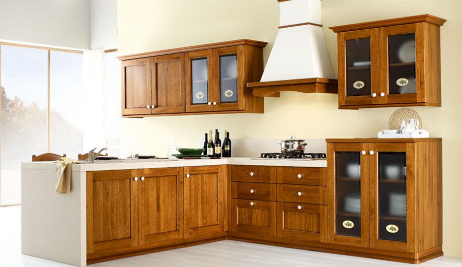 cuisine classique en bois massif avec lot