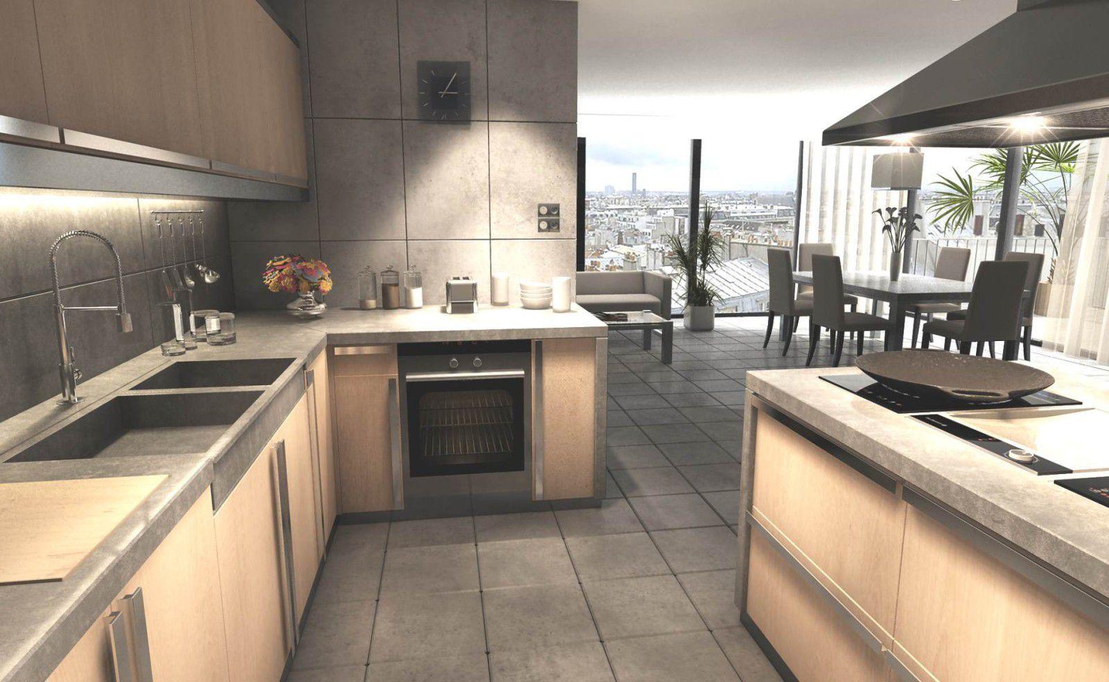 Plan de travail en béton bfuhp Ductal® / de cuisine - EPAISSEUR 5 ...