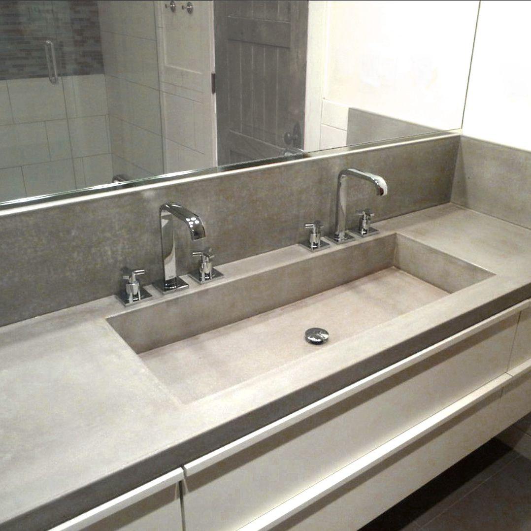 Plan vasque en béton bfuhp Ductal® - BALIAN BETON Atelier