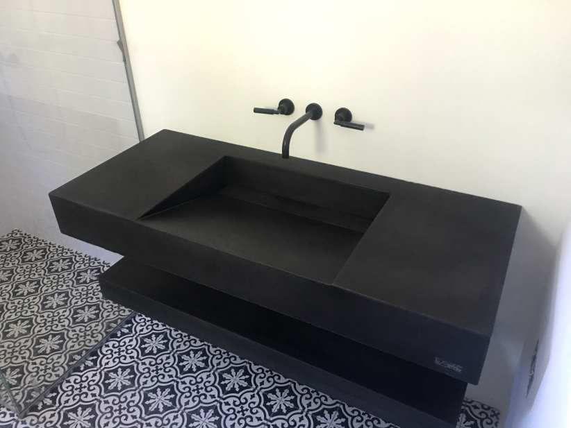 Plan vasque en béton bfuhp Ductal® / sur mesure - LAME DE ...