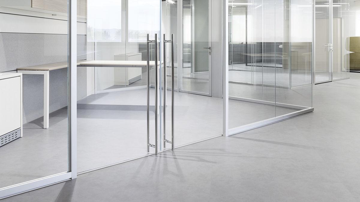 cloison amovible / en verre / de bureau / transparente - k evo - frezza