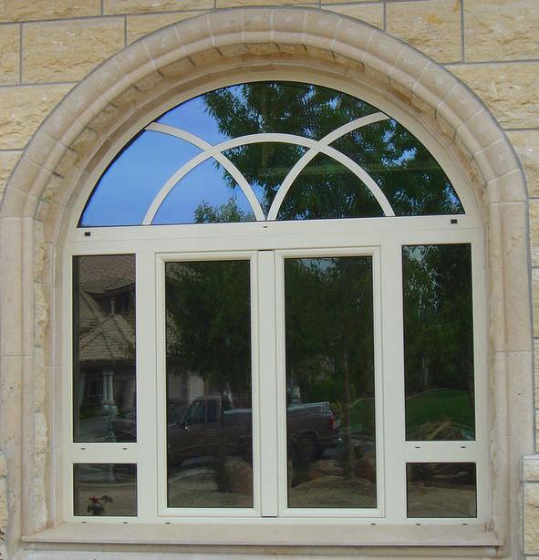 Model Fenetre En Aluminium #13: Fenêtre Battante / à Pivot / En Aluminium / Cintrée S.46 Panda Windows ...