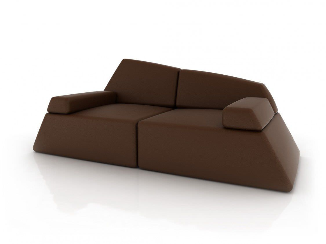 Canapé design original en cuir en tissu 2 places GIBRALTAR