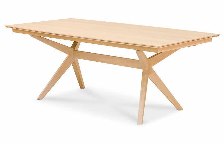 table rallonge contemporaine en bois massif