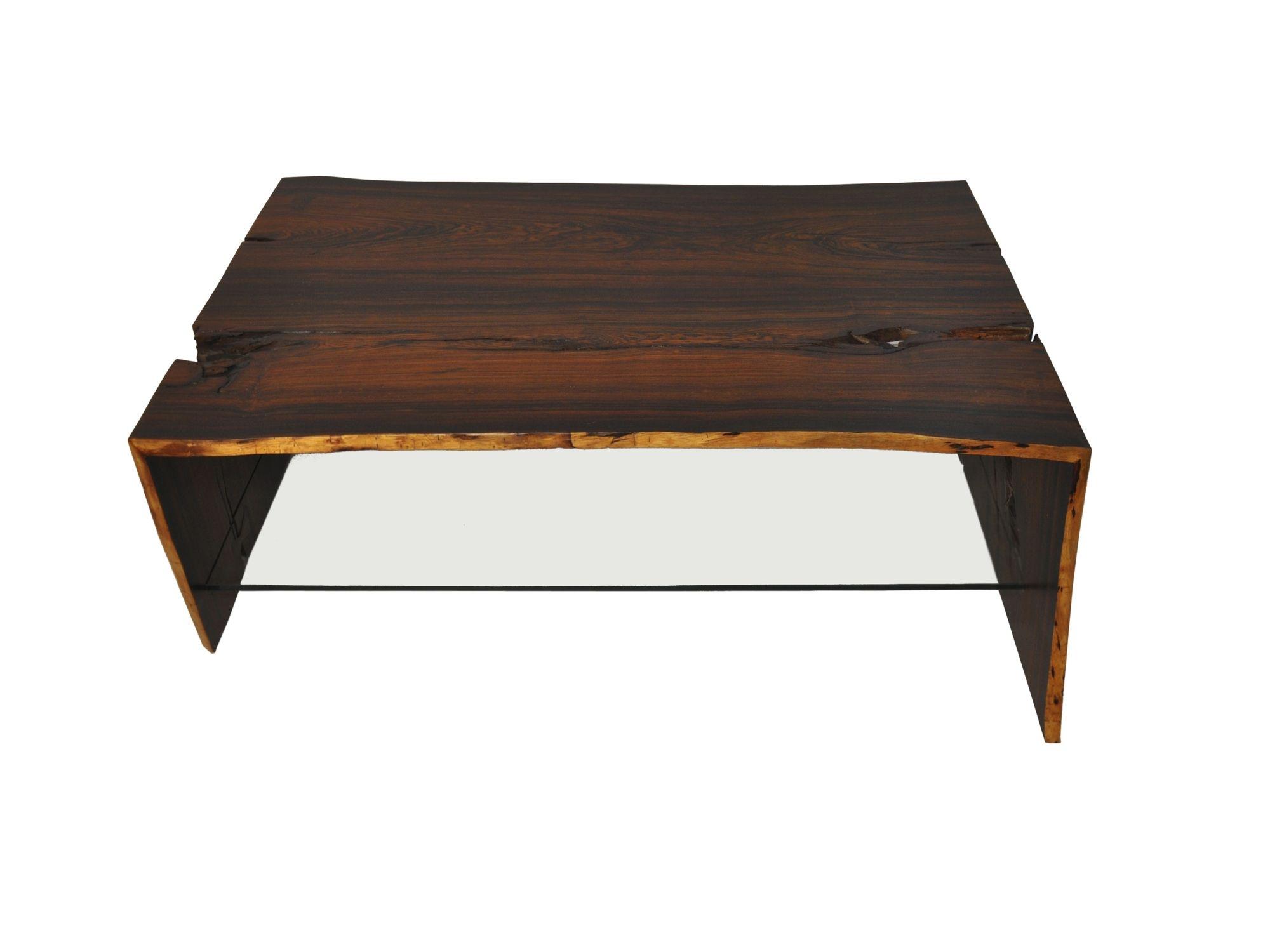 Table basse contemporaine en bois rectangulaire en matériaux