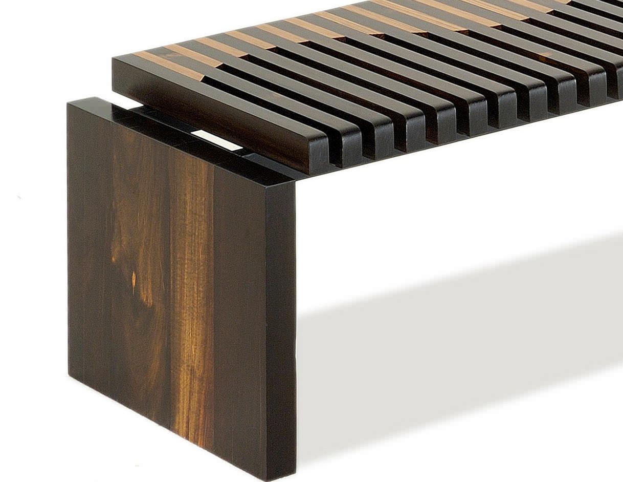 Banc contemporain / en bois / de récupération - ONDA - Rotsen ...