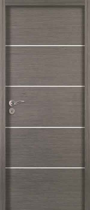 porte d 39 int rieur battante en ch ne acoustique moderne bp harmonie inox jeld wen france. Black Bedroom Furniture Sets. Home Design Ideas