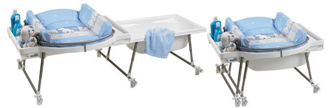 Table à Langer En Matière Plastique Sur Baignoire Avec évier