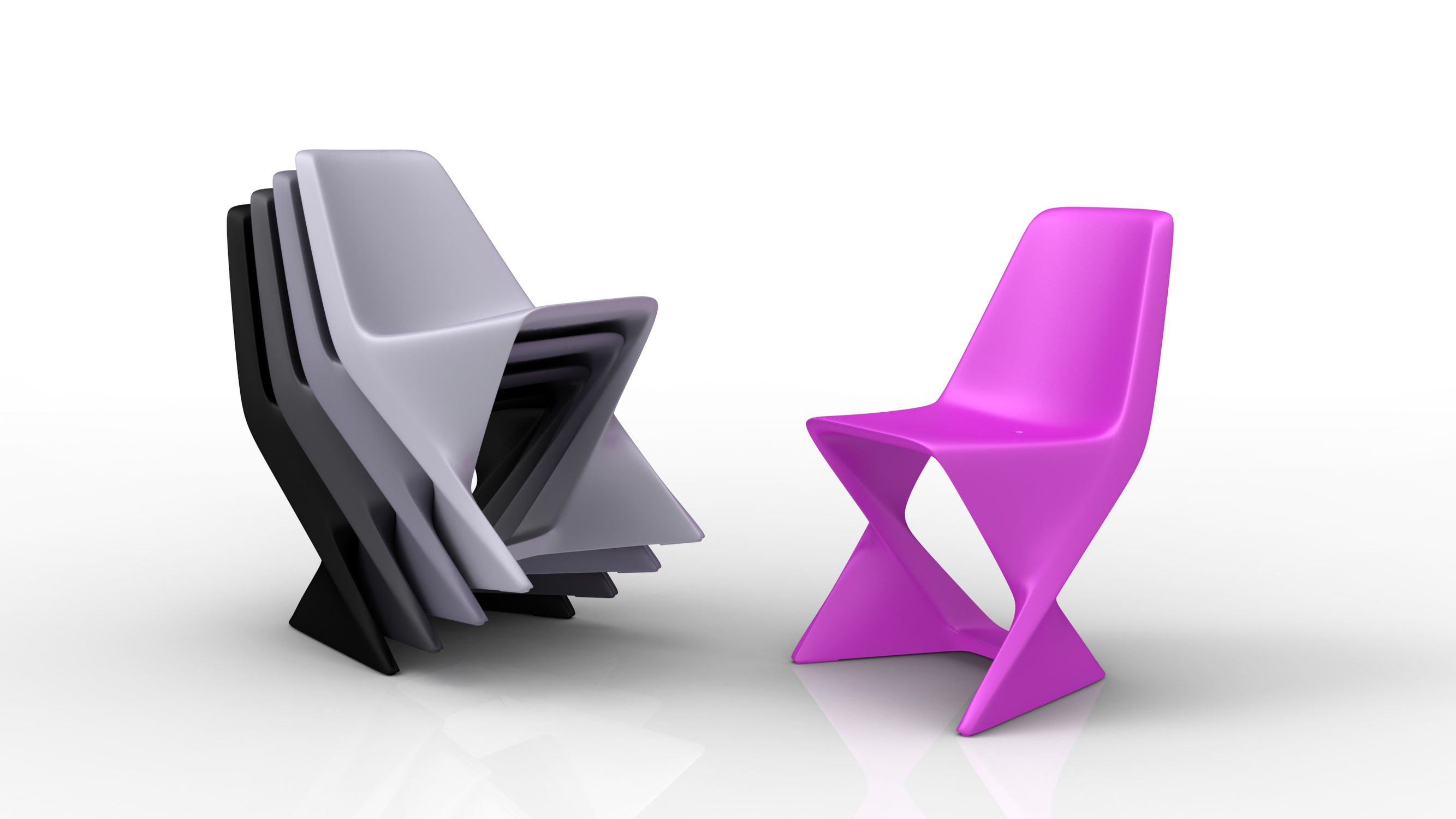 Chaise de jardin design Pop / empilable / en polymère - ISO by ...