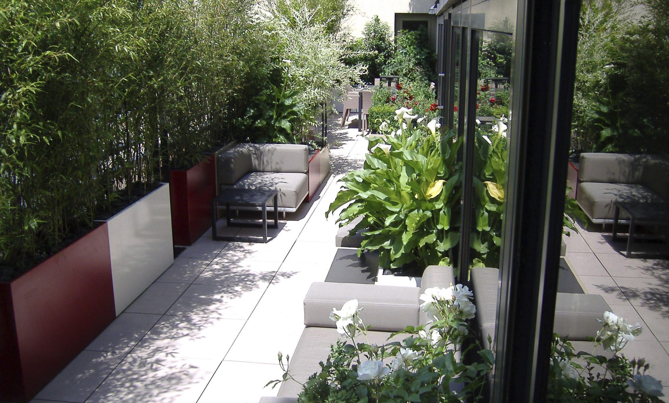 jardiniere exterieure dedans jardinire en fibro ciment rectangulaire sur mesure - Jardiniere Exterieure Contemporaine