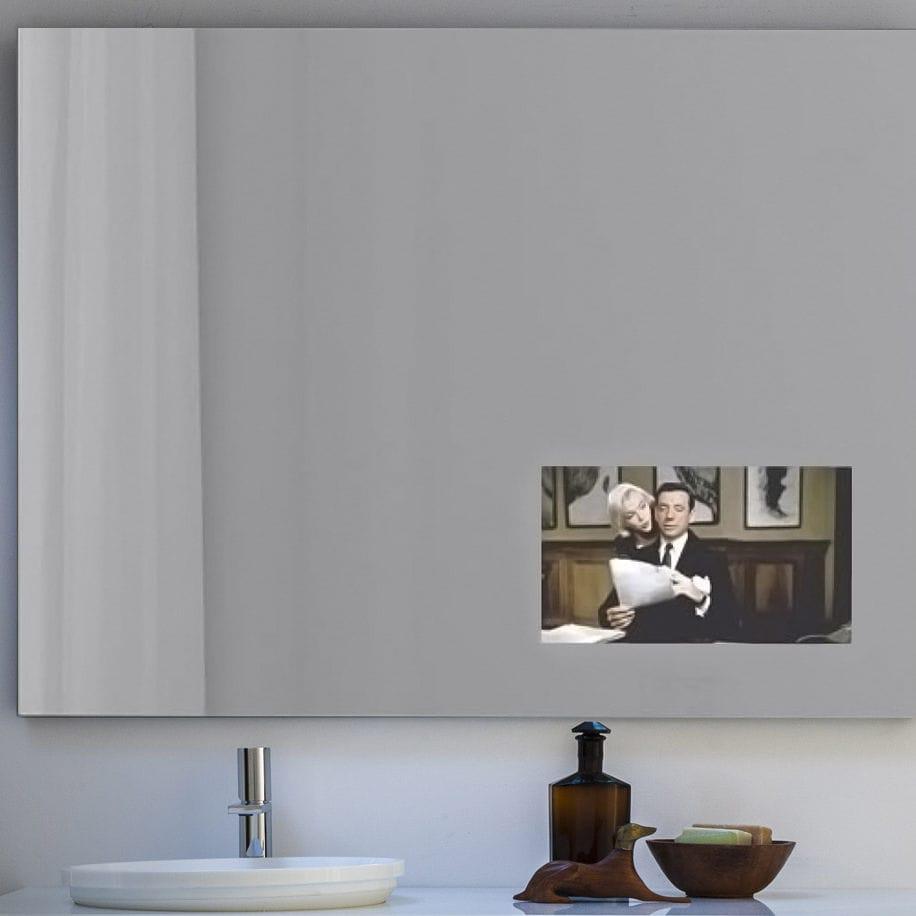 Miroir Salle De Bain Tv ~ miroir de salle de bain mural avec t l vision int gr e lumineux