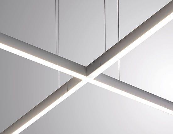 Luminaire Suspendu A Led Lineaire En Aluminium Rail Sistema