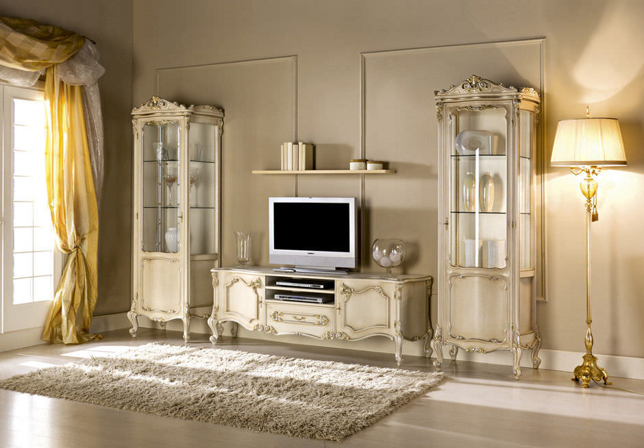 Meuble Tv Design Nouveau Baroque En Bois Baroque Guerra Vanni