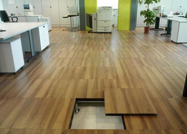 Faux plancher bois
