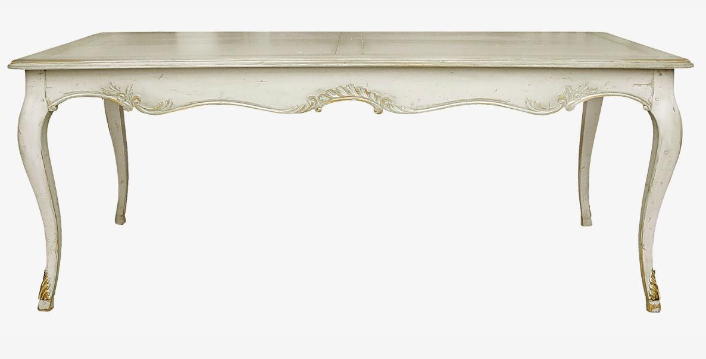 Table de style Régence / en bois / rectangulaire / à rallonge - 682 ...