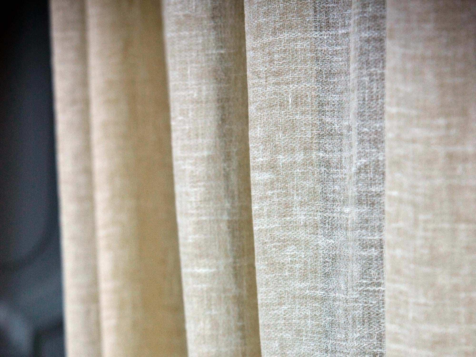 tissu pour rideaux uni en light linolana mastro raphaël