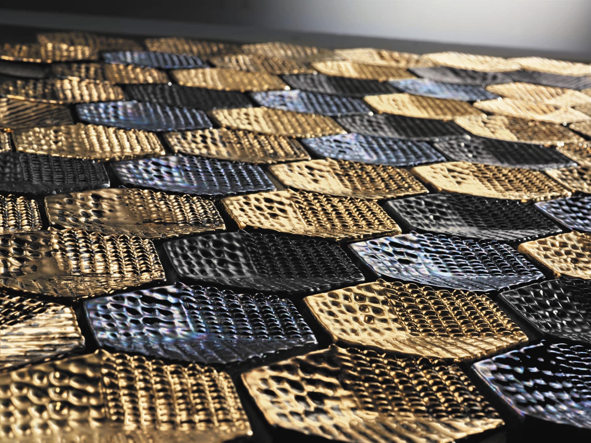 Mosaique En Ceramique mosaïque murale / en céramique / fait main - cube bianco matt - arezia