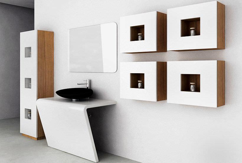Meuble de rangement salle de bain design