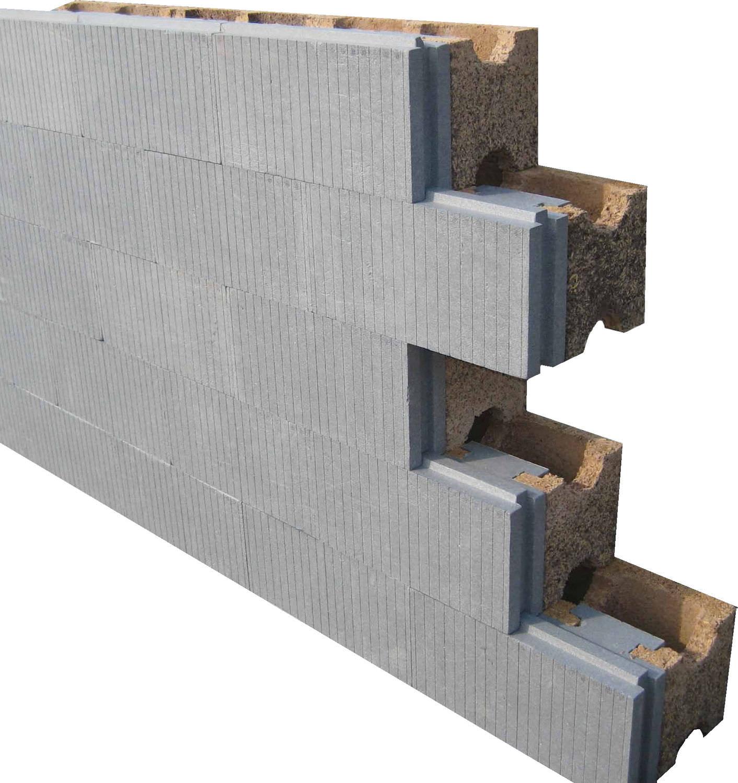 bloc de coffrage en béton de bois / pour mur / isolant - hi (haute